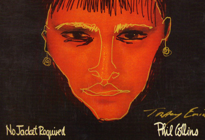 No Jacket Required Phil Collins record sleeve bastardised by Tracey Emin for a self portrait